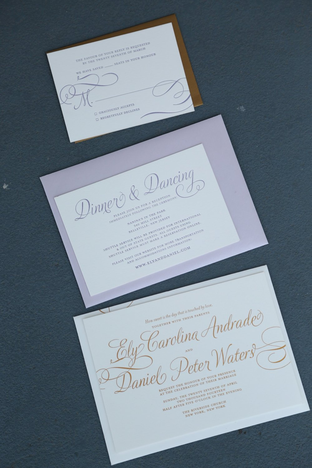 Gold Foil Wedding Invitation Suite by Pomp Creative