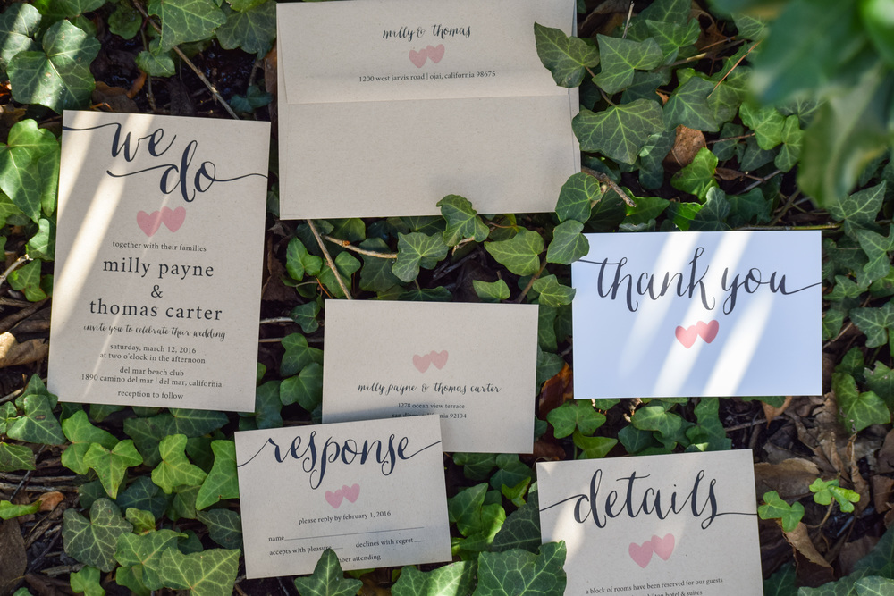 Rustic Kraft Paper Wedding Invitation Suite by Paper Hive