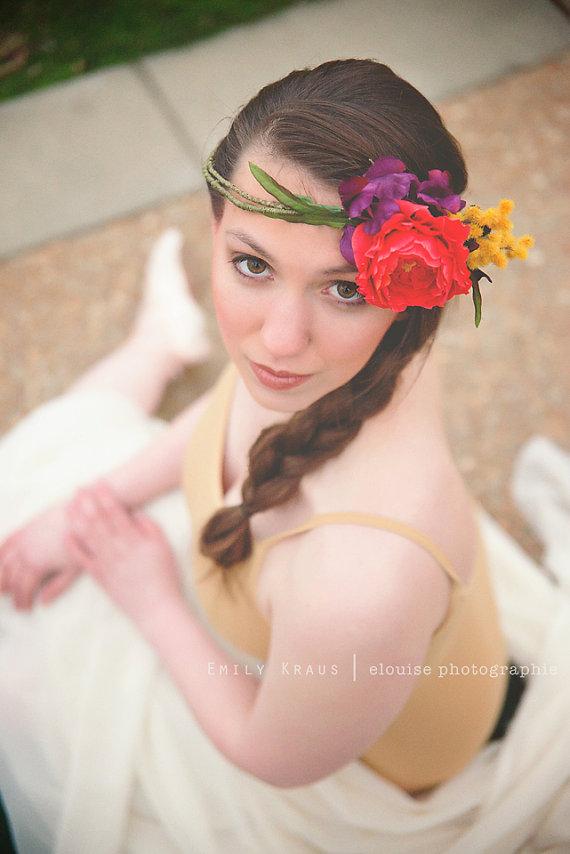 Bohemian Bride Flower Crown
