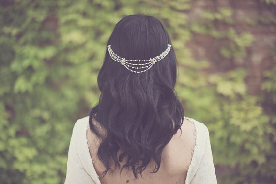 boho bride boho chic wedding headpiece
