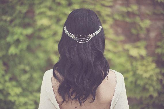 boho bride boho chic wedding headpiece