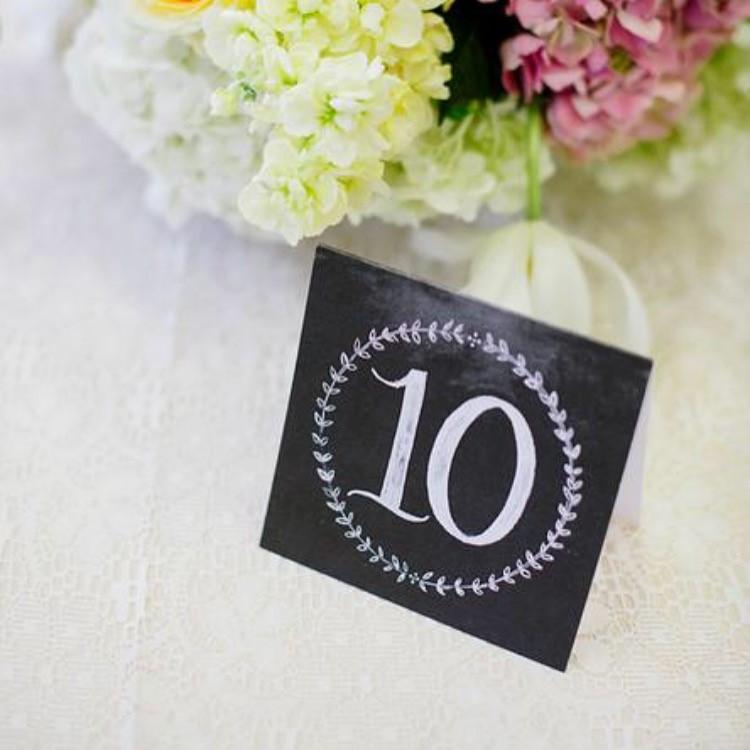 chalkboard wedding table numbers