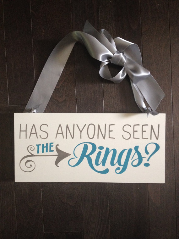 ring bearer signs - has anyone seen the rings