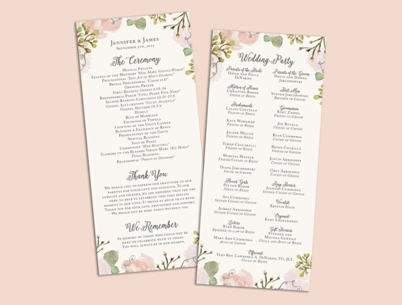 Unique Wedding Ceremony Programs