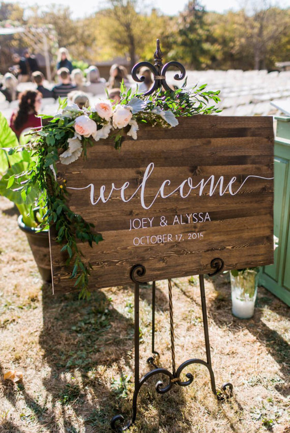 Wedding Decor + Directional Signs