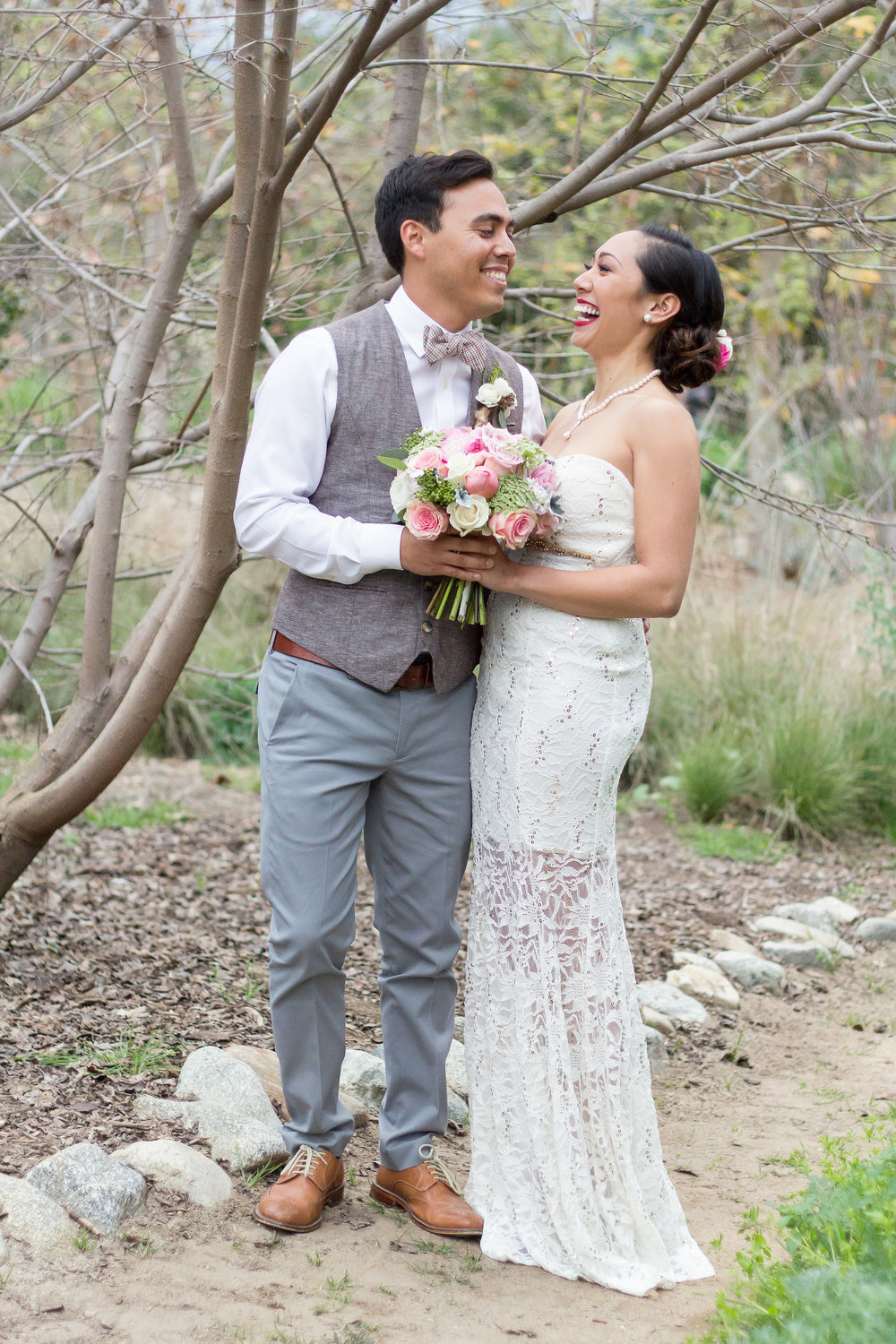 A DIY Vintage-Inspired Pasadena Wedding by T. Wu Photography