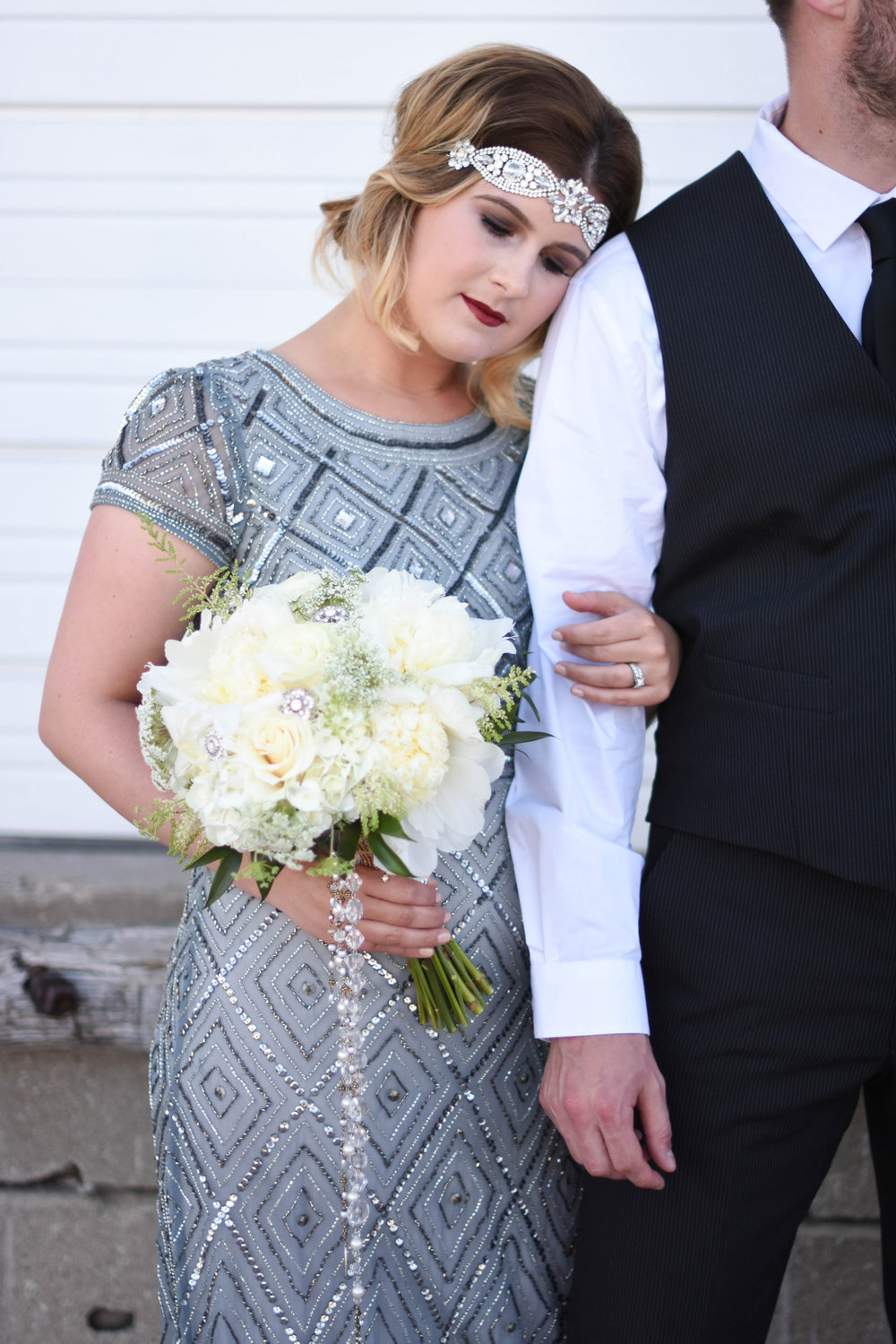 Gatsby-Themed Engagement Shoot in Downtown Iowa City by Macy Marie Photography