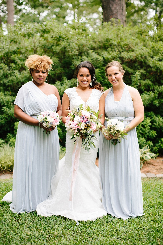 light blue bridesmaid dresses - davids bridal