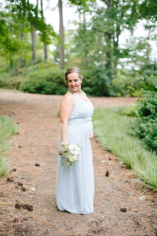 light blue bridesmaid dress - davids bridal