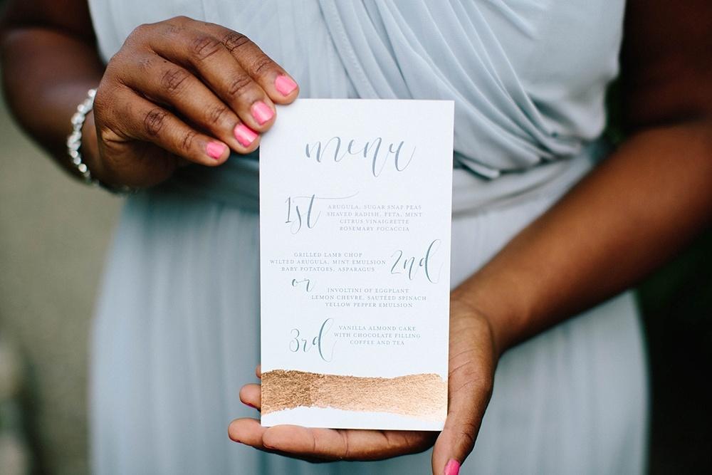 rose gold wedding invitation - davids bridal