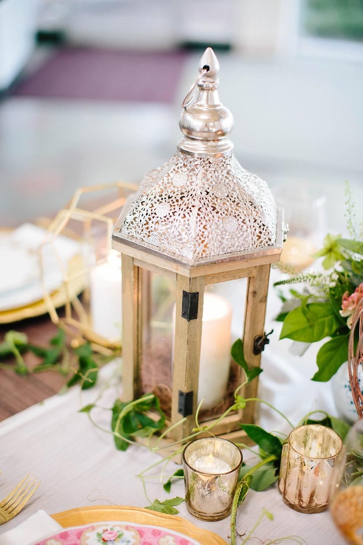 vintage wedding reception decor - davids bridal