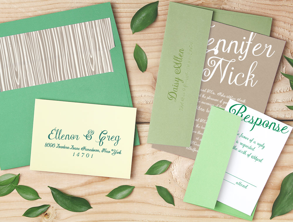 affordable custom wedding invitation suites