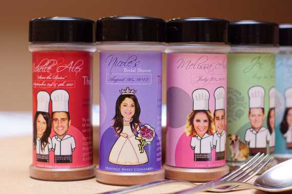 unique wedding favor ideas - personalized spices