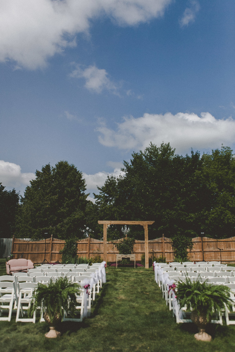 an intimate wisconsin backyard wedding with a hint of star wars