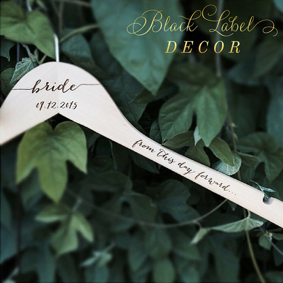 bridal shower gift ideas - custom bride hangers