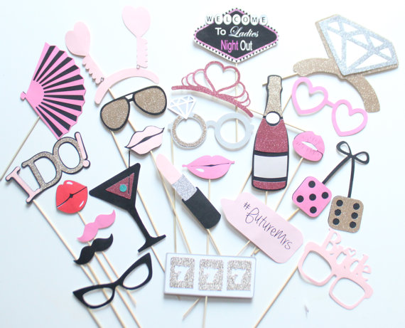 bachelorette party ideas - bachelorette party games, photobooth props