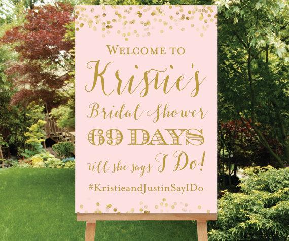 bridal shower decor sign