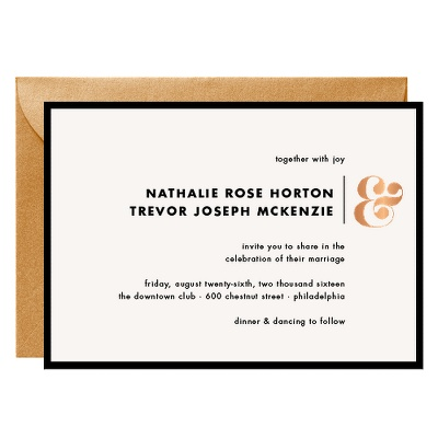 gold foil stamped wedding invitations, gold foil save the dates