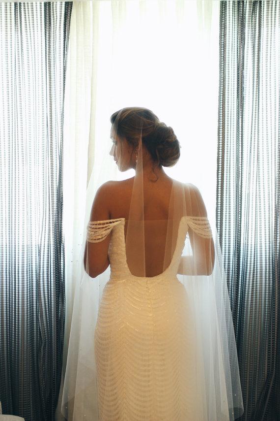 inexpensive soft drop wedding veil