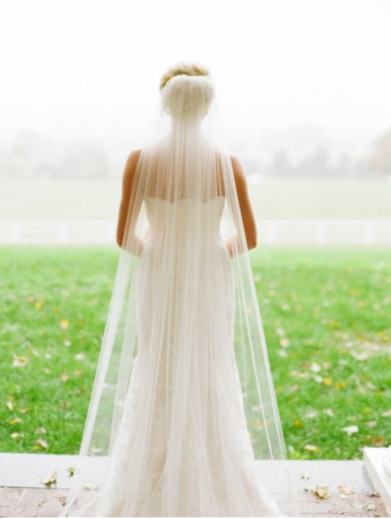 inexpensive cathedral length bridal veils