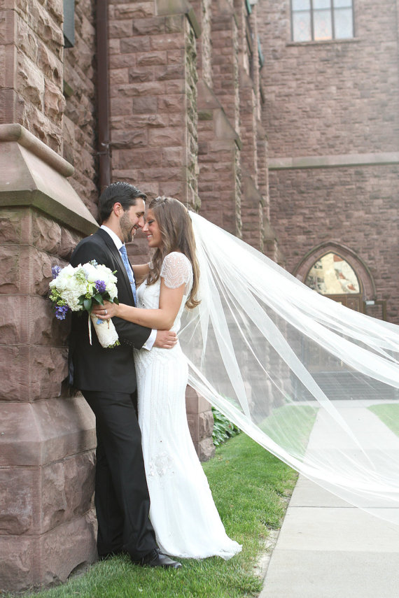 inexpensive cathedral length veil