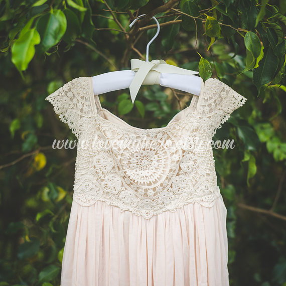Shabby Chic Flower Girl Dress