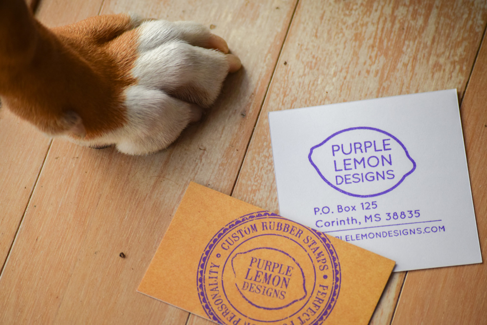 Custom Wedding Invitation Address Stamp by Purple Lemon Designs