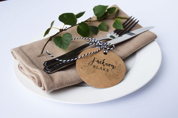 unique wedding place cards + escort cards