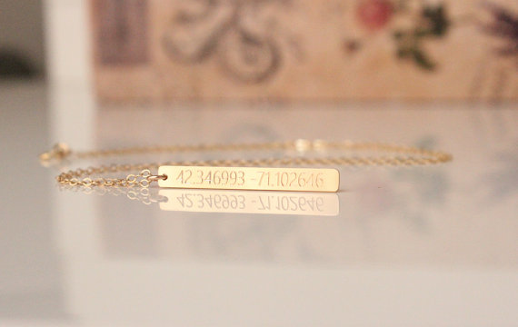 Latitude-Longitude Bar Necklace