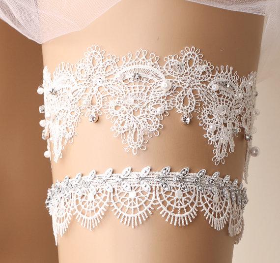 Delicate Lace Garter Set