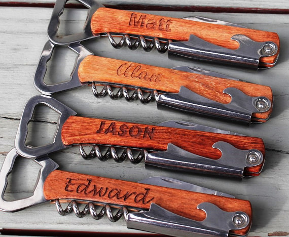 Corkscrew and Multi-Tool Groomsmen Gift