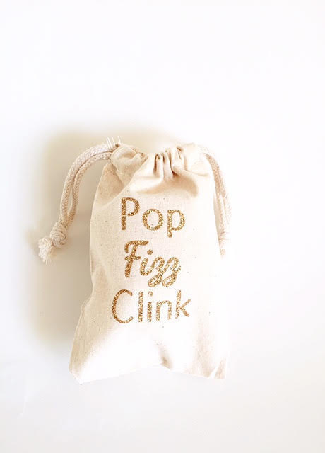 Pop Fizz Clink Bridal Shower Favor Bags