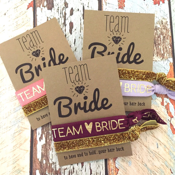 Team Bride Hair Ties