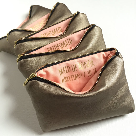Bridesmaid Gift Makeup Bags
