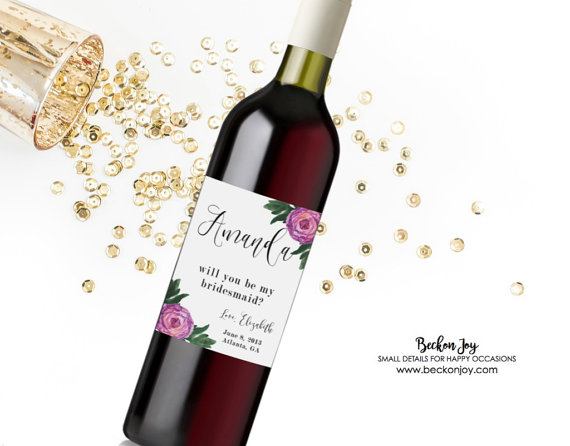 Bridesmaid Proposal Wine Labels