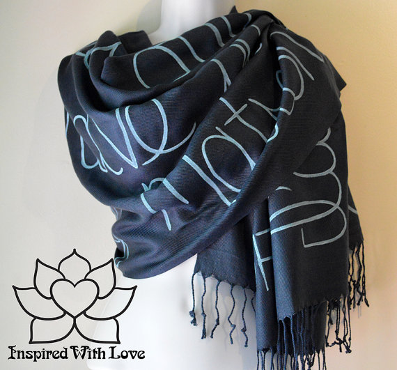 Personalized Message Pashmina Scarf