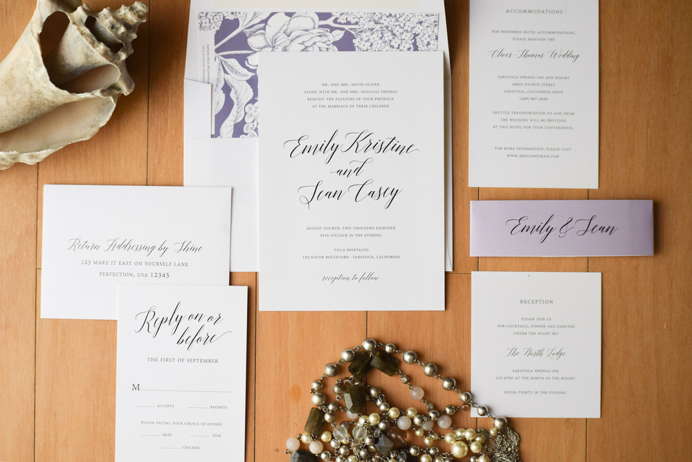 elegant wedding invitations - Shine Invitations