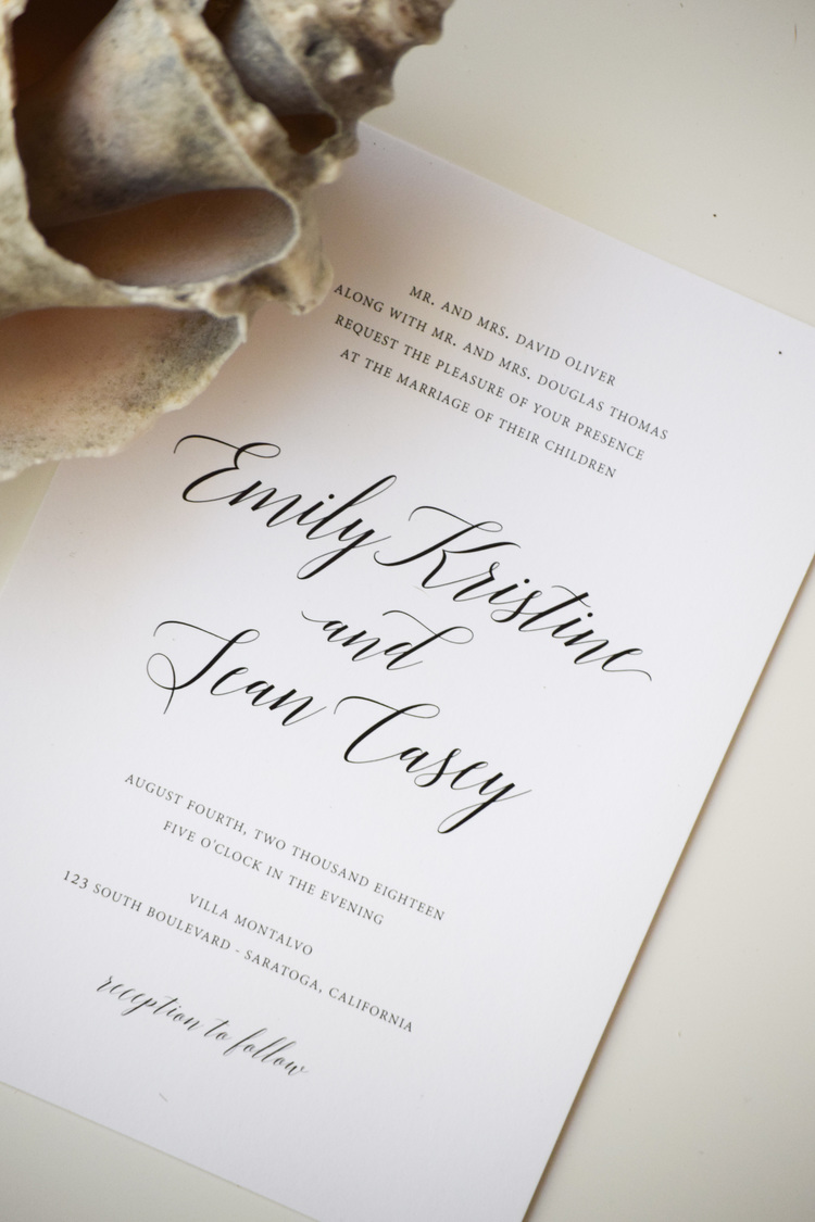 The Bridal Boutique | A Classic White + Lavender Wedding Invitation ...