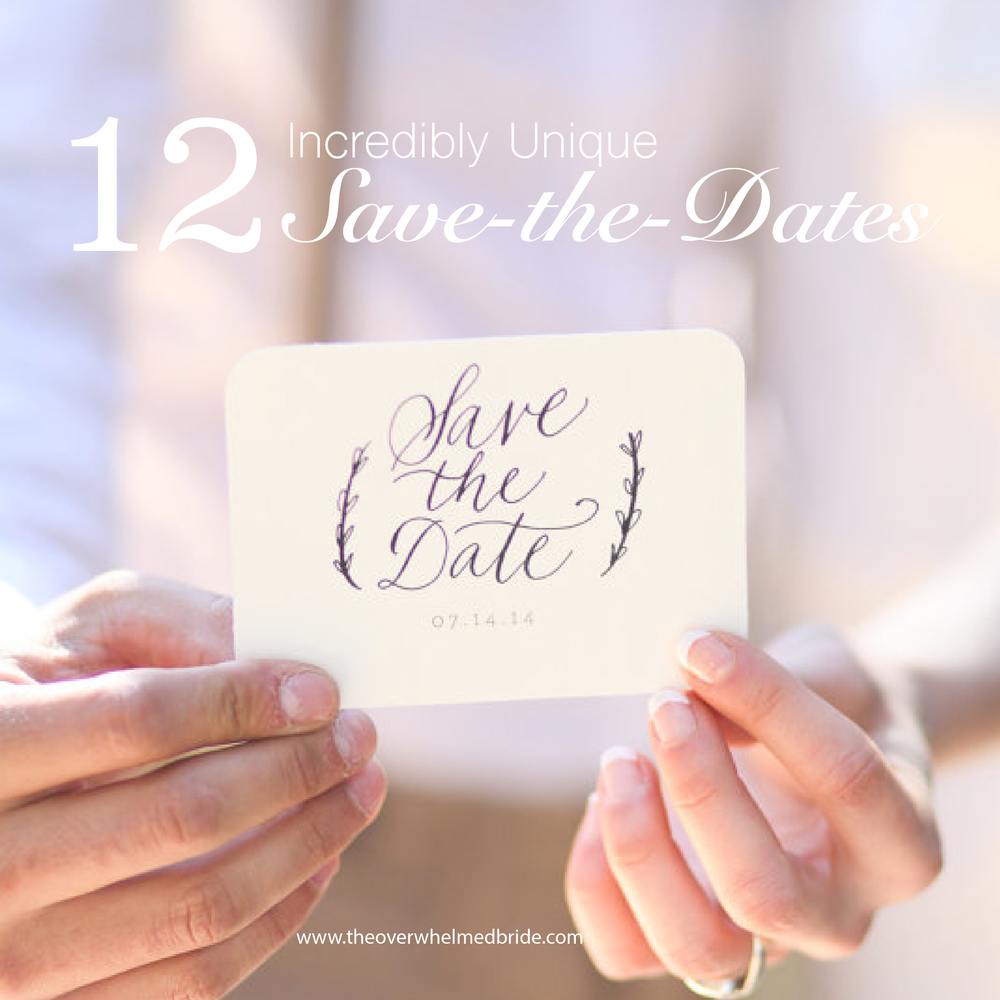 fun and unique save the dates