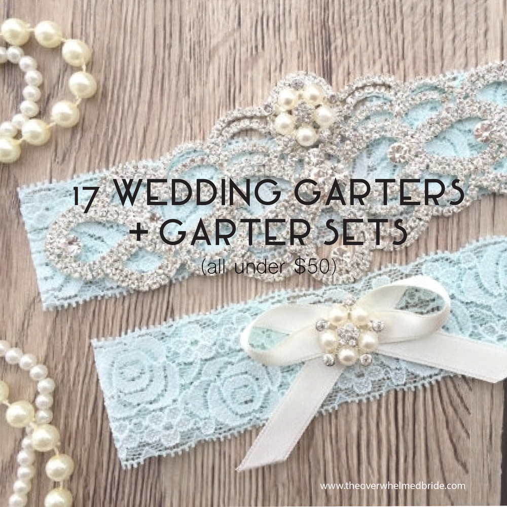 Gorgeous + Affordable Lace Wedding Garters