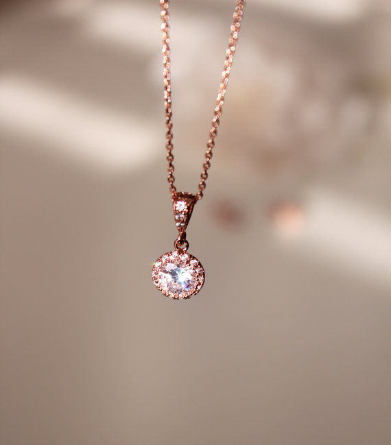 valentines bridesmaid cz product wedding charm necklace heart anniversary hugerect pendant gift