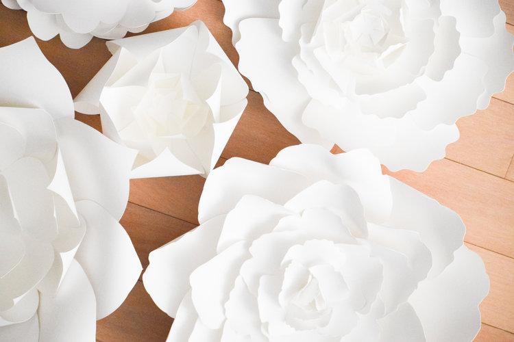 The bridal boutique paper flower wedding decor by paper flora paper flower wedding decor mightylinksfo