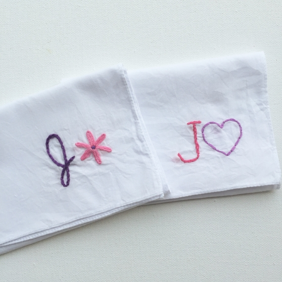 monogrammed wedding items - personalized handkerchief