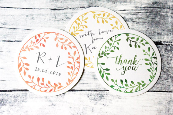 monogrammed wedding items - wedding personalized coasters