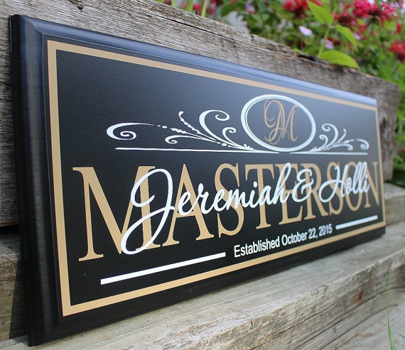 monogrammed wedding items - wedding welcome sign