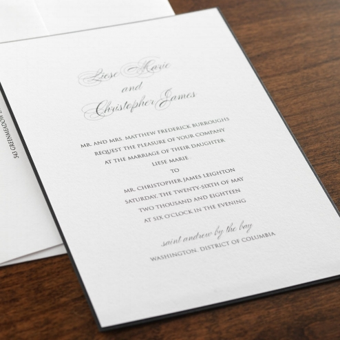 Monochrome Wedding Invitations + Save the Dates