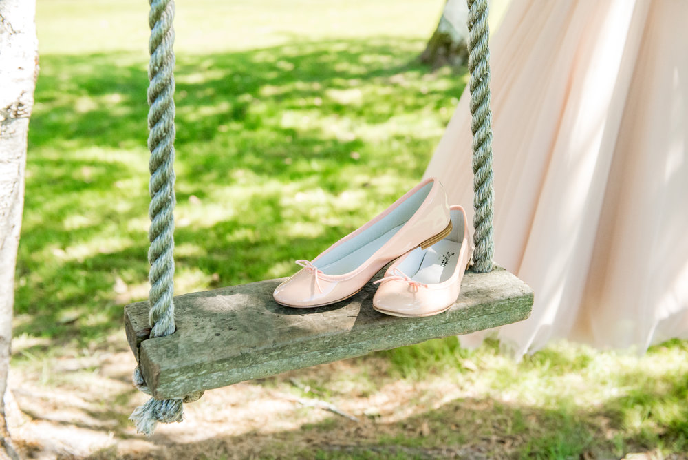 Soft Blue + Blush Forest Wedding