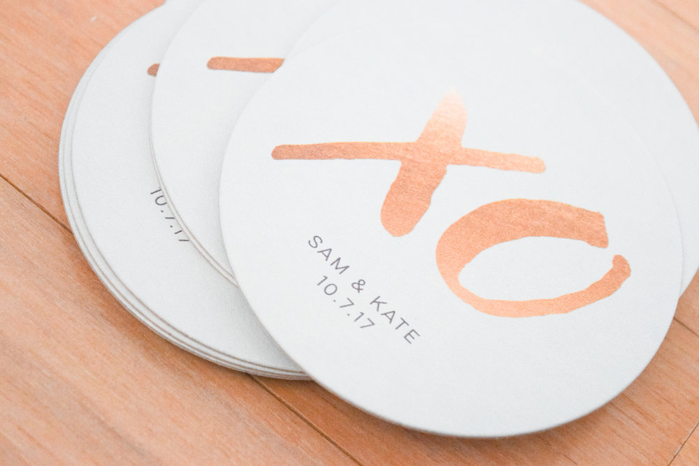 Bridal Shower Drink Ideas - Personalized Coasters