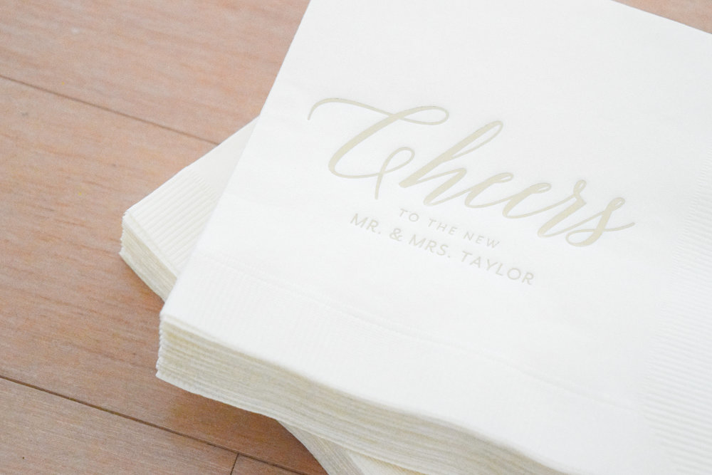 Bridal Shower Drink Ideas - Personalized Cocktail Napkins