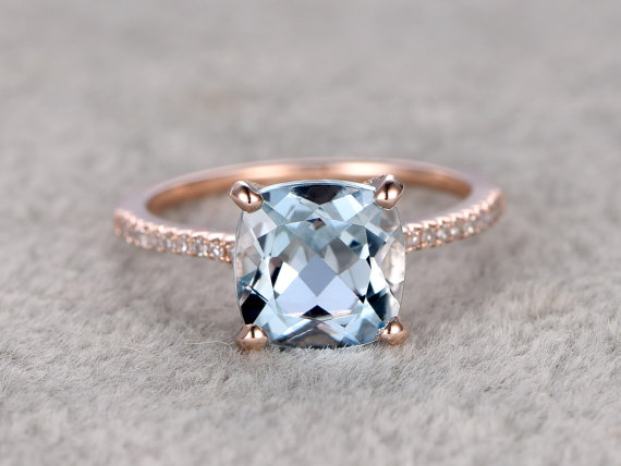 Rose Gold Bridal Jewelry - Rose Gold Engagement Ring